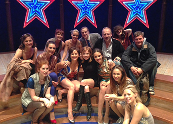Geri Halliwell with the cast of VIVA FOREVER!