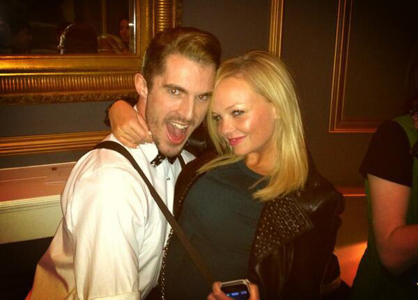 Leon (Simon Adkins) with Emma Bunton