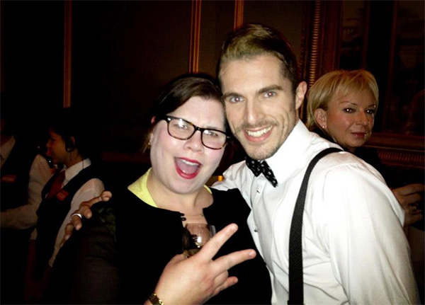 Leon (Simon Adkins) with Katy Brand