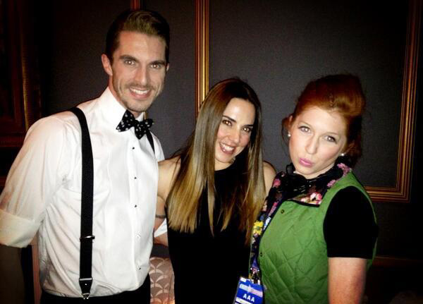 Leon (Simon Adkins) and Minty (Hatty Preston) with Melanie C