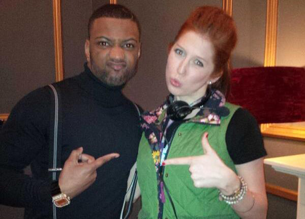 Minty (Hatty Preston) with singer JB from JLS